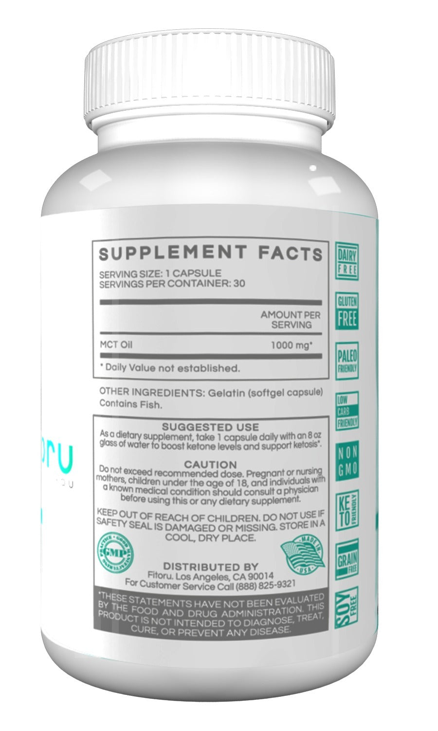 MCT Oil Softgels - 30 Days Supply