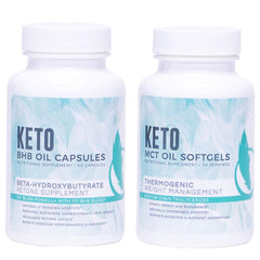 Fitoru Keto Support Combo: BHB Capsules and MCT Softgels