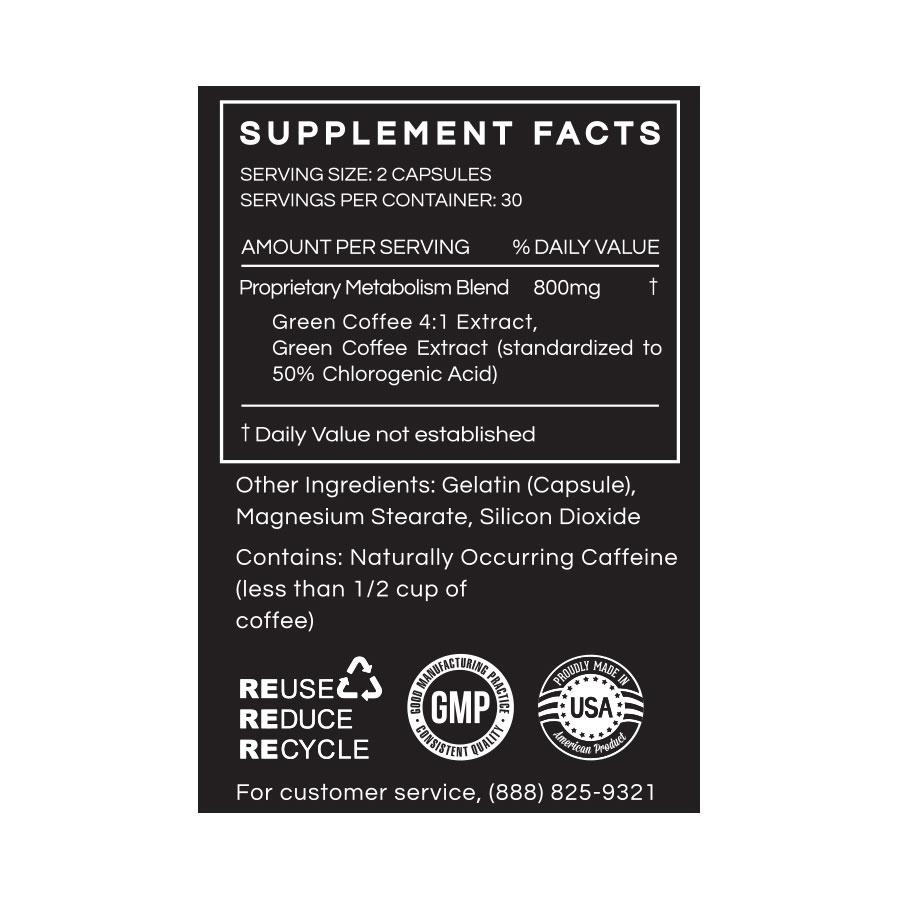 Green Coffee Extract - Advanced Metabolism Support