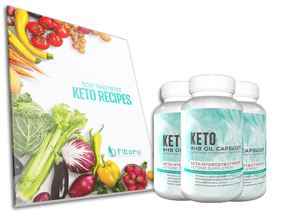 BHB Oil Capsules - 90 Days Supply + Top Tastiest Keto Recipes eCookbook