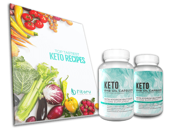BHB Oil Capsules - 60 Days Supply + Top Tastiest Keto Recipes eCookbook