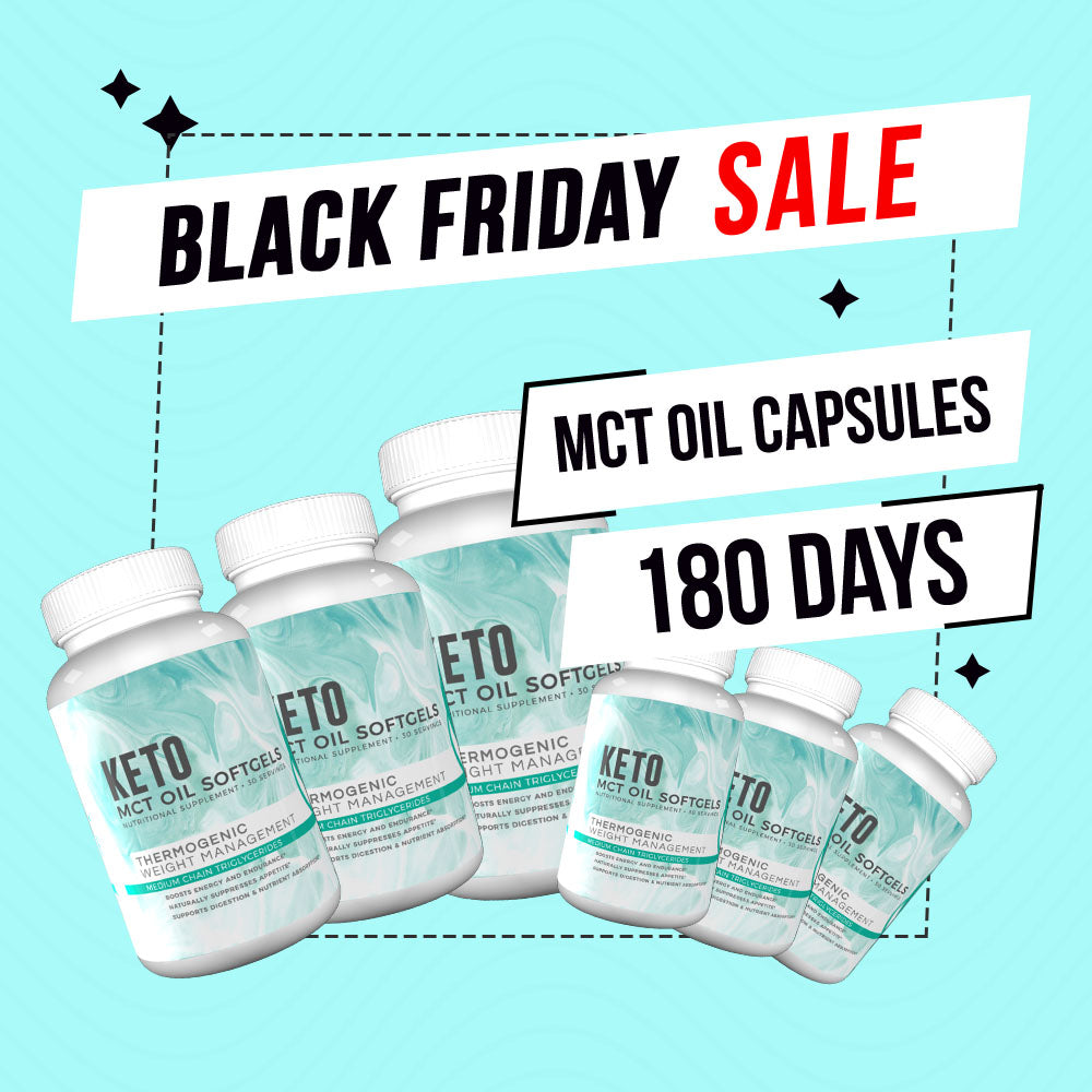 Black Friday Deal - MCT 180 Days + FREE Exclusive Walking Guide + FREE Tracker Bracelet, FREE Double Layer Towel, FREE Fitoru Bottle, FREE Towel FREE 90 Days Weight Loss Guide eBook