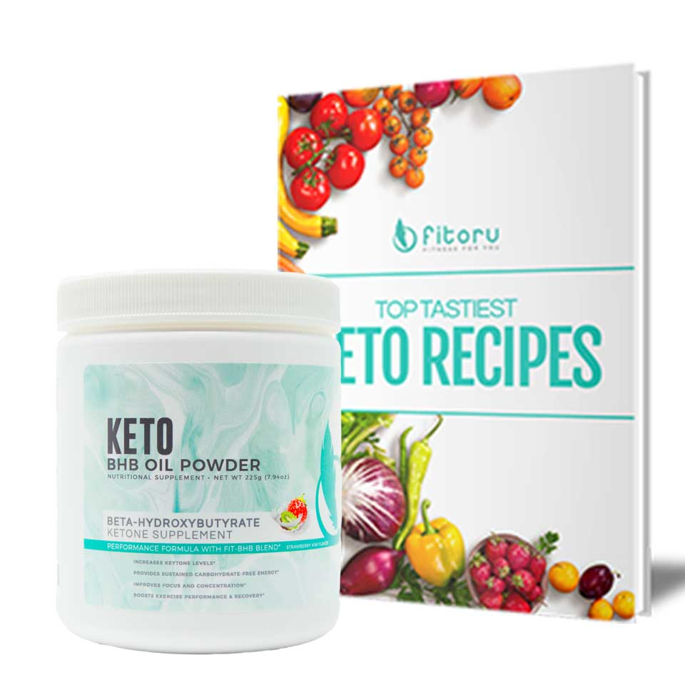 BHB Oil Powder - 1 Canister 20% + FREE Top Tastiest Keto Recipes eCookbook