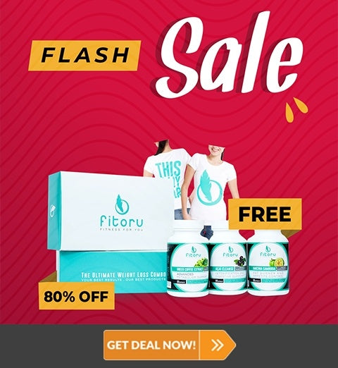 Flash Sale - Fitoru Slimpack 60 Days Supply with 80% OFF Plus FREE Fitoru T-Shirt