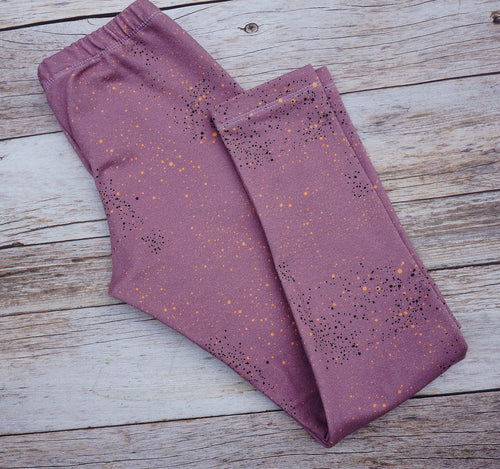 Leggings - Smokey Dotty Lilac - Euro Organic French Terry