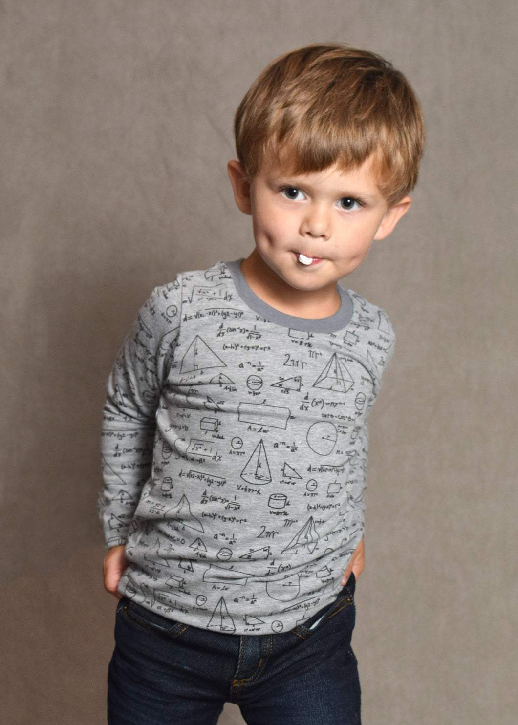 Basic Tee - Equations, sizes 9 months to 5T/6