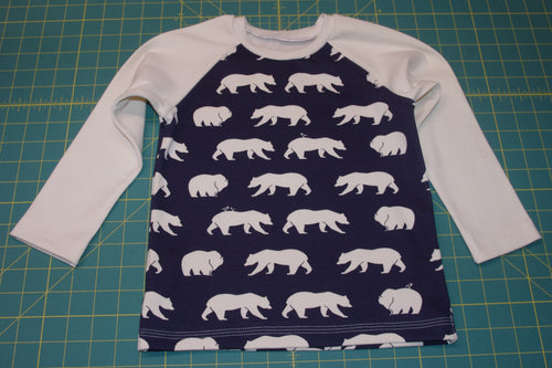 Custom size Basic Tee - Bear Walk in Dusk