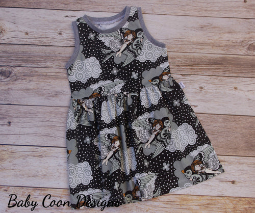 Custom size Organic Knit Baby Dress - Thumbelina