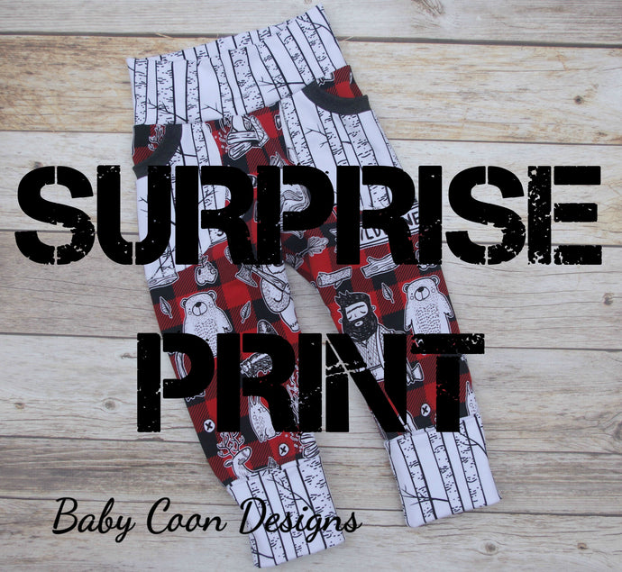 Grow with me Pants - SURPRISE PRINT!, size 9 months - 3/4 years