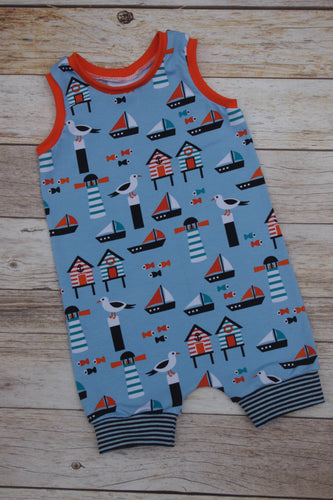 Pull-on Romper - Lighthouse,  size 2T/3T
