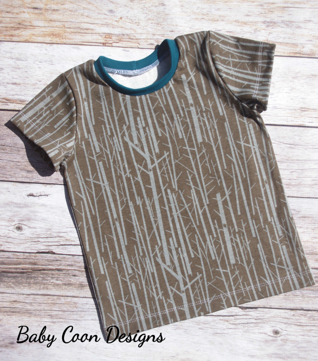 Custom size Basic Tee - Tree Bark