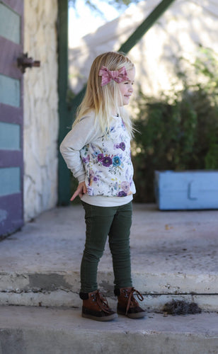 Perfect Sweatshirt - Flowers, sizes 0/3 months to 5T/6