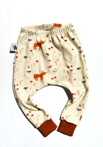 Explorer Harem Pants - Sunny Forest, sizes 0/3 months - 2T/3T