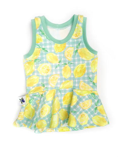 Carefree Peplum - Lemons, sizes 2T - 7