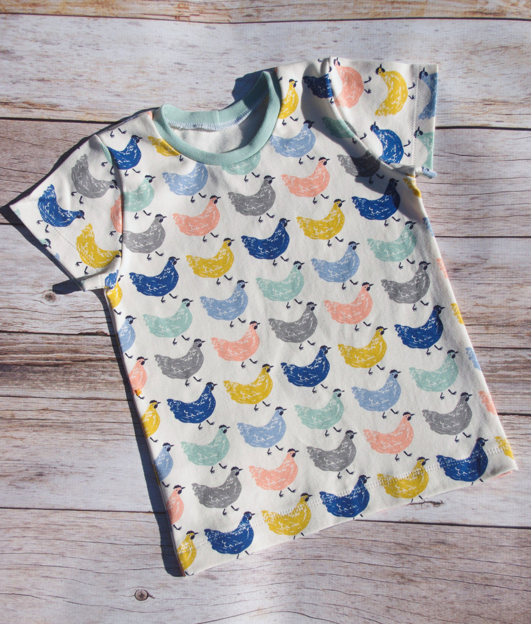 Basic Tee - Chickens, sizes 0/3 months - 5T/6