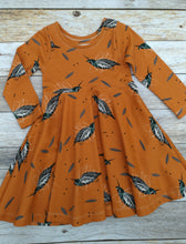 Infinity Dress - Quails - Organic Cotton Knit, sizes 12 months to 6 years