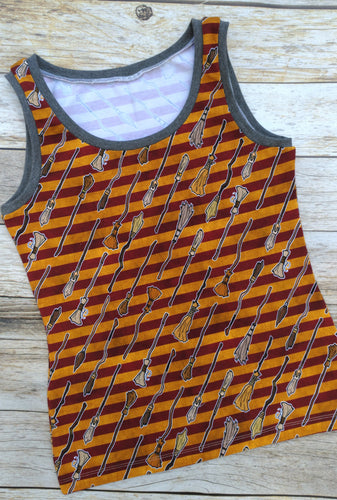 Ladies Tank - Brooms - size 6/8