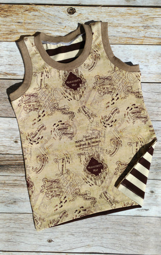 Girl Tank Top - The Map - size 9/10 slim