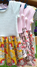 Cotton Knit Drop Waist Dress - Animal Friends, 6/9 months to 6 years