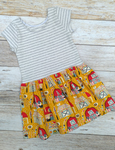 Cotton Knit Drop Waist Dress - Folkland, 6/9 months to 6 years