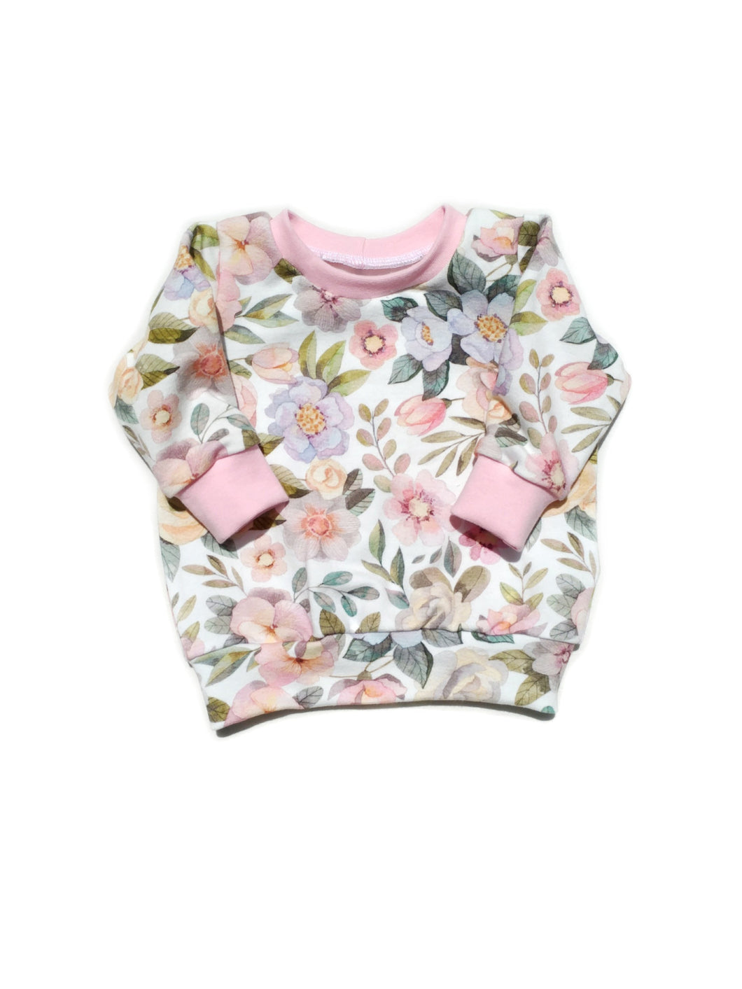 Sweatshirt - Blossoms (Organic French Terry), sizes newborn to 5T/6
