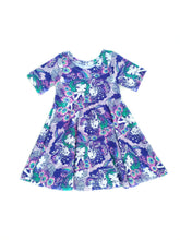 Infinity Dress - Magical Unicorns in Purple, Organic cotton knit, sizes 9/12 months to 6 years