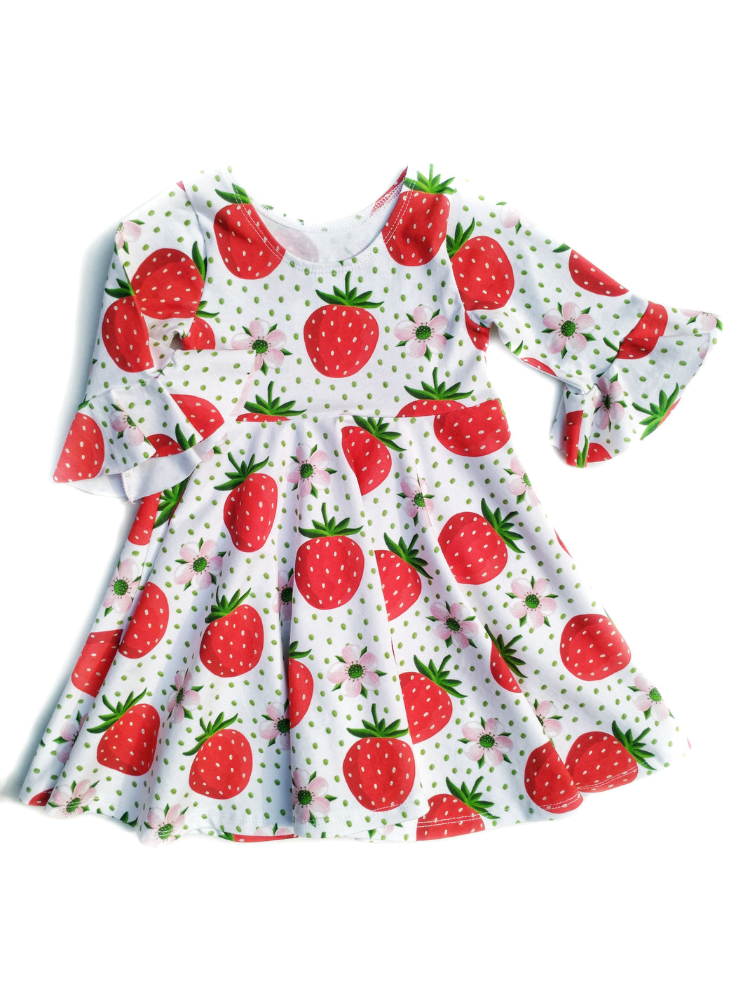 Infinity Dress - Summer Strawberry - size 6/9 to 5T (Leave your size in order comments!!)