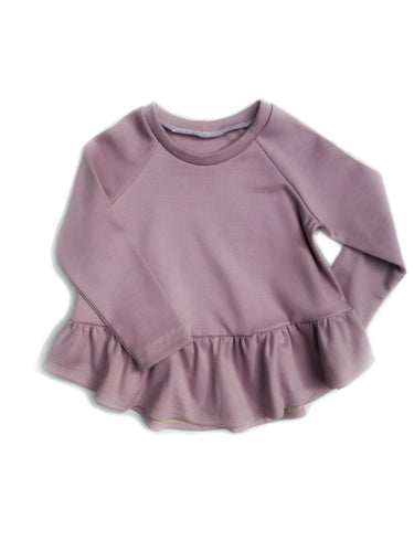 Waterfall Top - Lavender - Organic Cotton Knit, sizes 12 months to 6 years