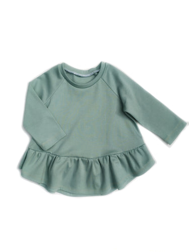Waterfall Top - Mineral - Organic Cotton Knit, sizes 12 months to 6 years