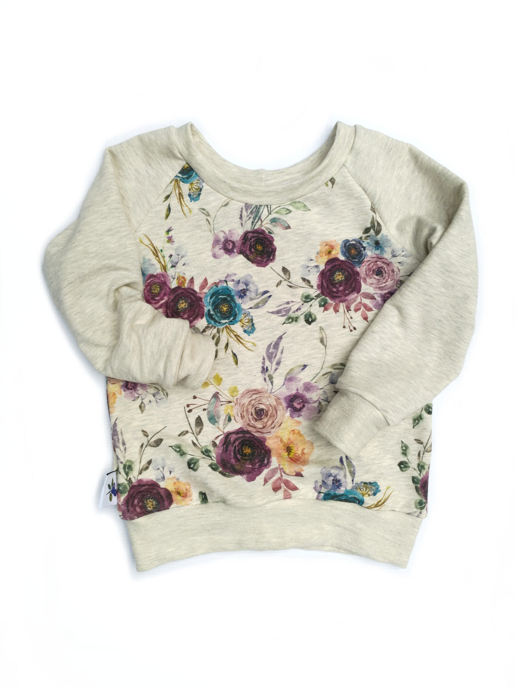Camping Sweatshirt - Flowers, sizes 0/3 months to 5T/6