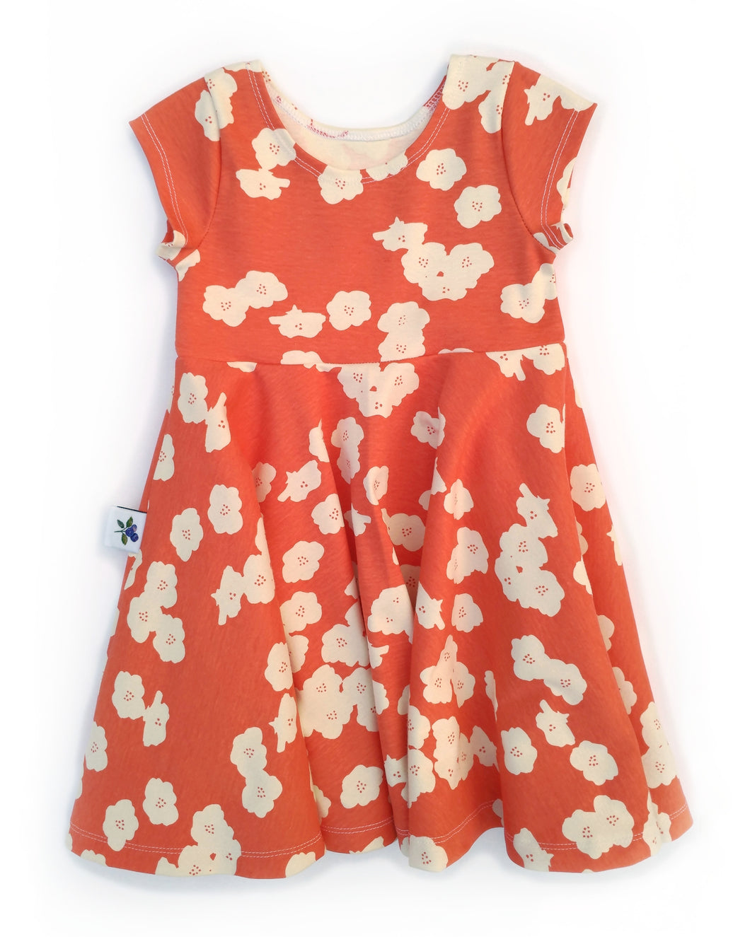 Infinity Dress - Coral Dreams - Organic Cotton Knit, sizes 9/12 months - 6 years