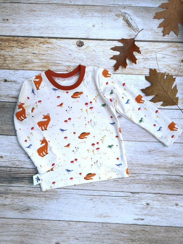 Basic Tee - Forest Friends on Natural, sizes 9 months to 5T/6