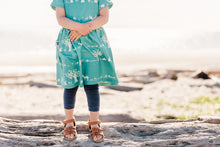 Day Trip Dress - Forest in Aqua, sizes 12 months - 6/7