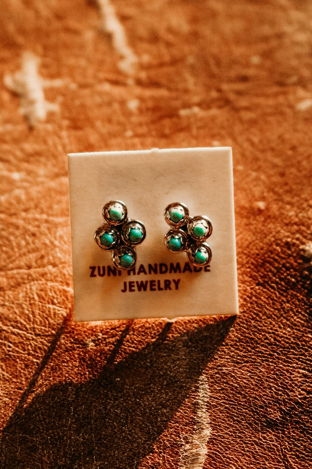Small Turquoise Diamond Cluster Stud
