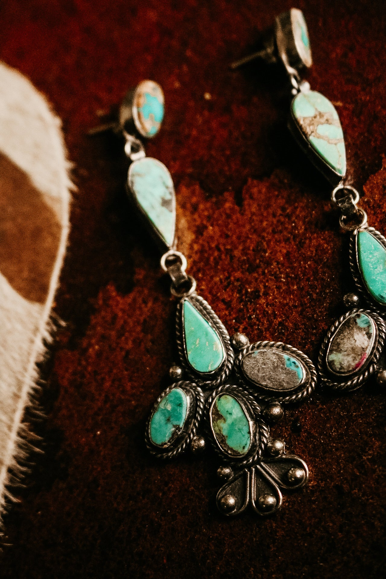 Large Turquoise Chandelier Earring