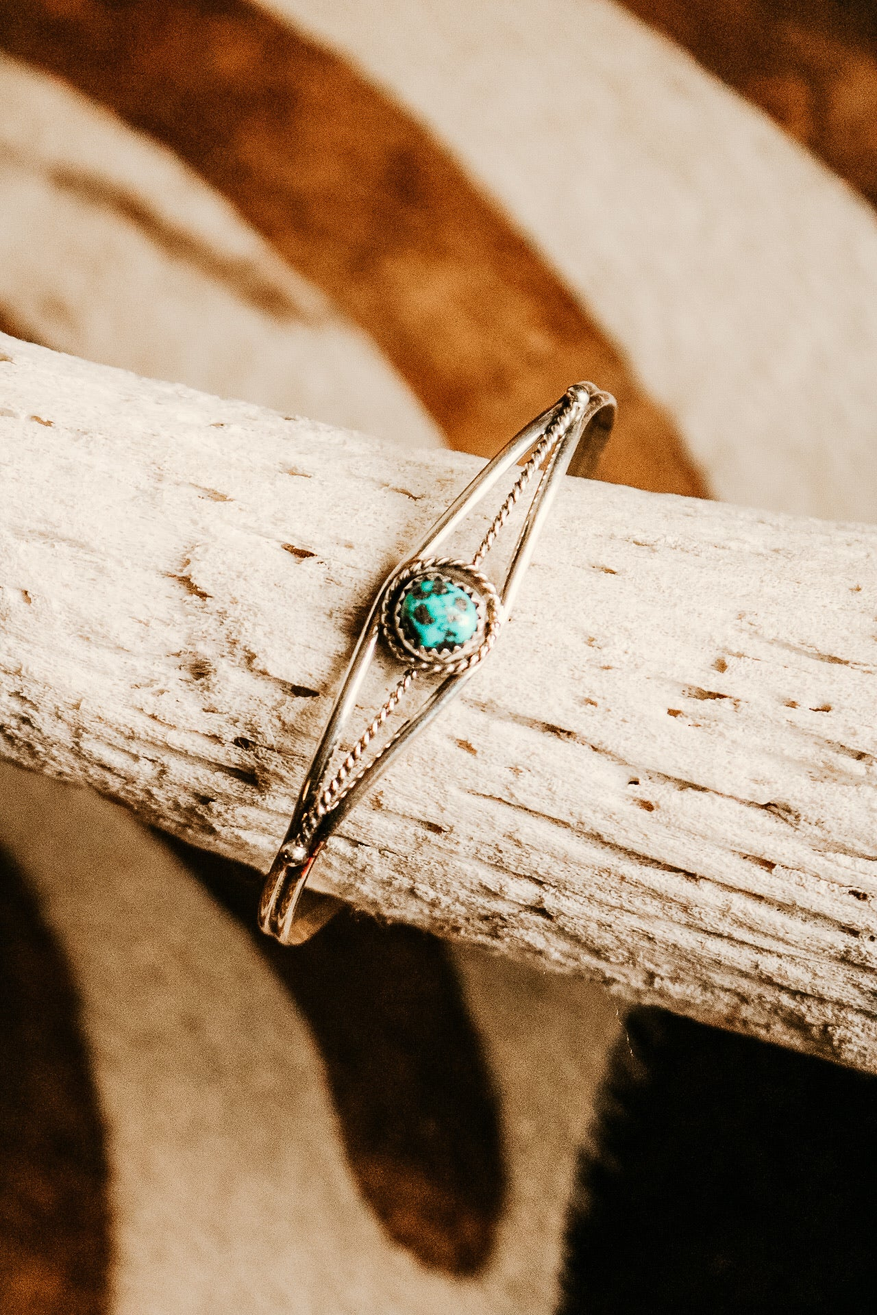 Small Turquoise Twisted Wire Cuff