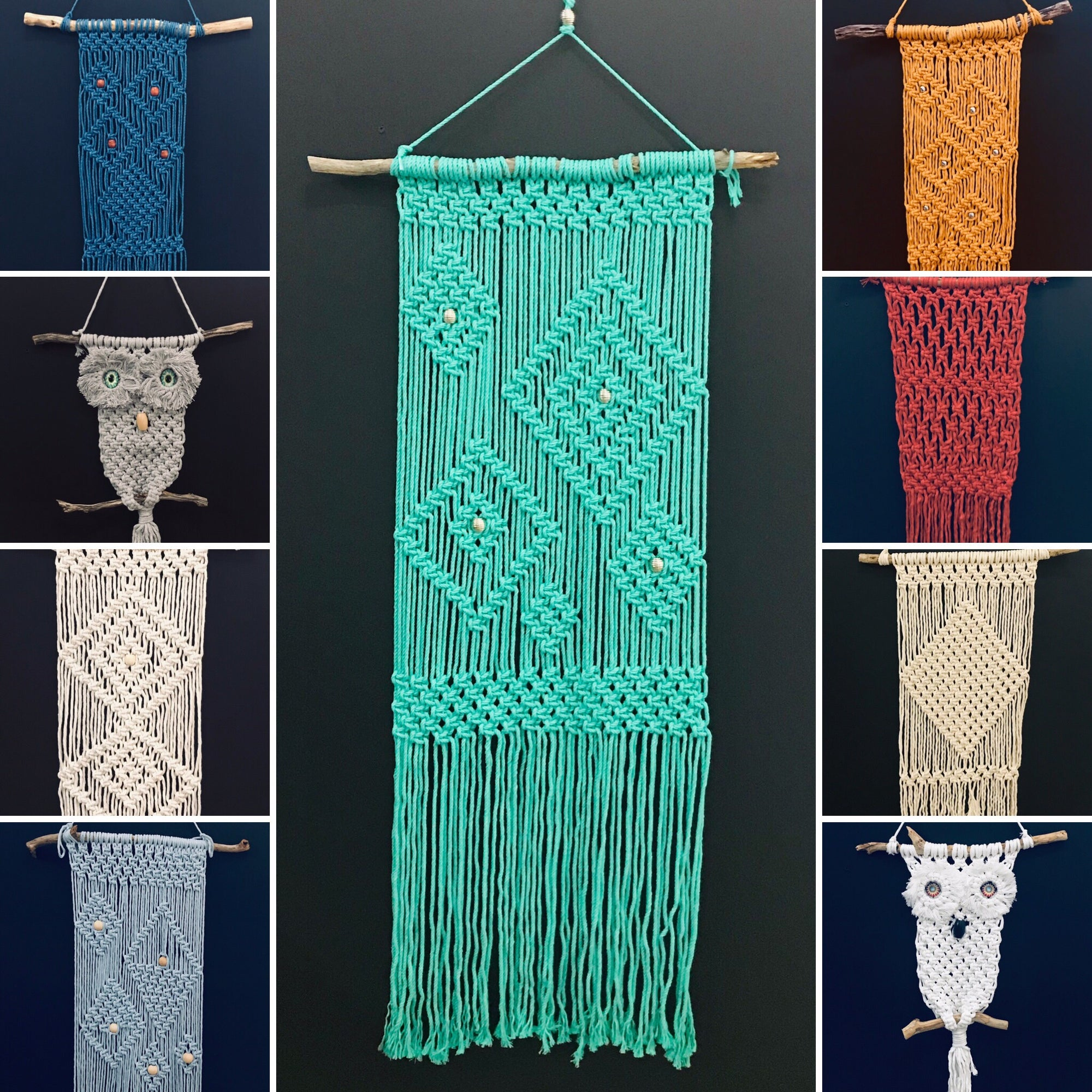 Macrame Wall Hangers - Hand Crafted Locally