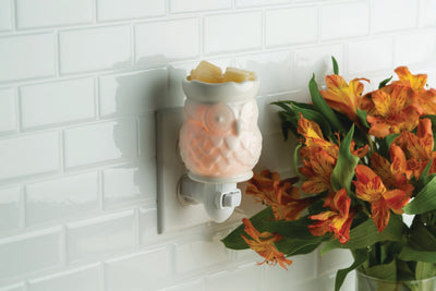 Mini Pluggable Wax Warmer - White Owl