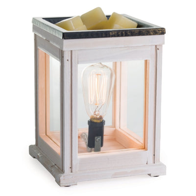 Electric Wax Warmer - Weathered White Edison Bulb
