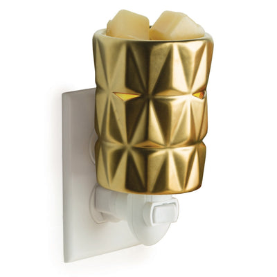 Mini Pluggable Wax Warmer - Gold Facets