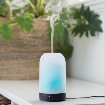 Ultrasonic Essential Oil Diffuser - Frosted Glass