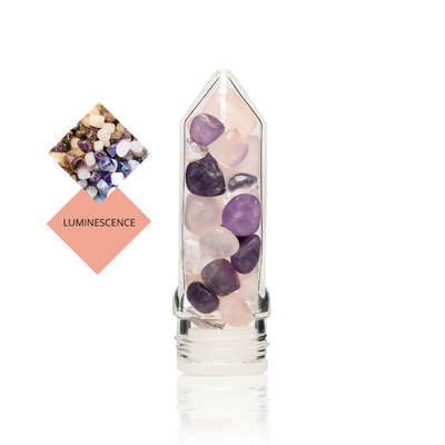 LUMINESCENCE Gem Pod - ROSE QUARTZ & AMETHYST