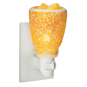 Mini Pluggable Wax Warmer - Cracked Amber