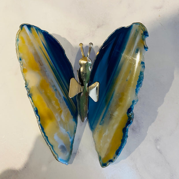 Dyed Agate Butterflies