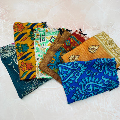 Indian Silk Pouch Small