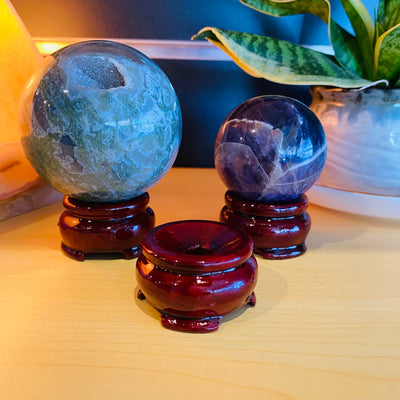 Wooden Crystal Stand - Large