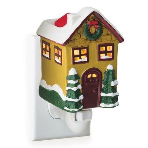 Mini Pluggable Wax Warmer Christmas Cottage