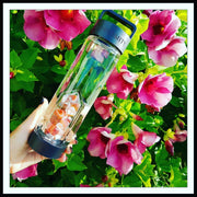 REJUVENATION Crystal Infused Water Bottle - CARNELIAN & CLEAR QUARTZ