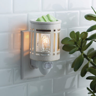 Mini Pluggable Wax Warmer - Mission White