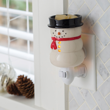 Mini Pluggable Wax Warmer Snowman